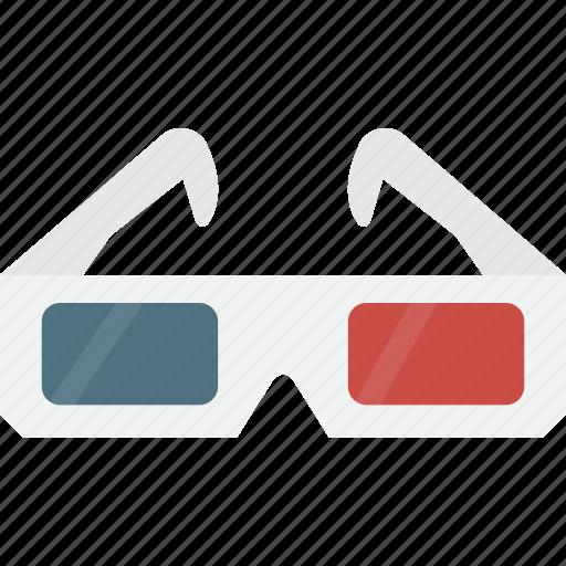 glasses, glasses 3d icon