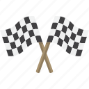 checkered, flags, race icon