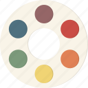 color, palette, wheel icon
