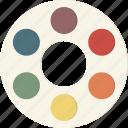 color, palette, wheel icon