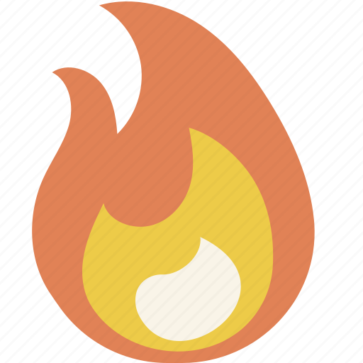 fire, flame, hot icon