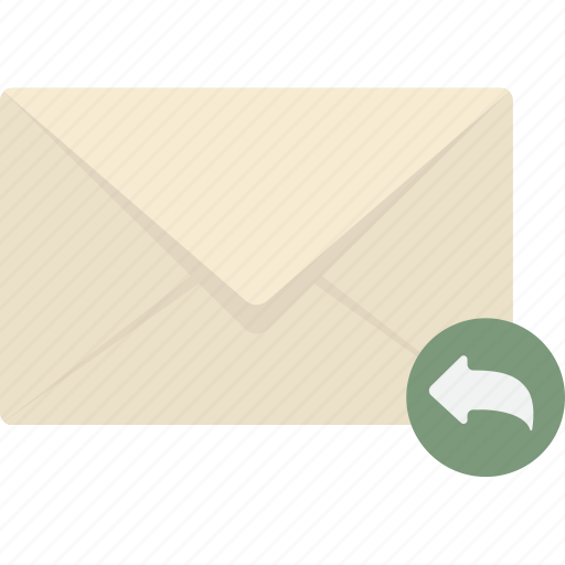 email, mail, message, reply icon