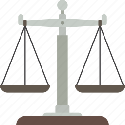justice, law, measure, scales, weigh icon