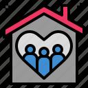 clan, family, house, love, snug icon