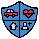 assurance, guard, insurance, protection, ward icon