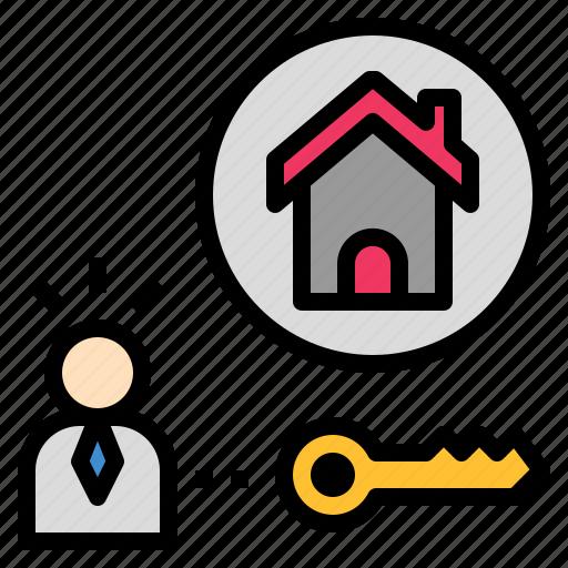 estate, holder, house, ownership, property icon