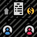 beneficiary, estate, heir, testament, will icon