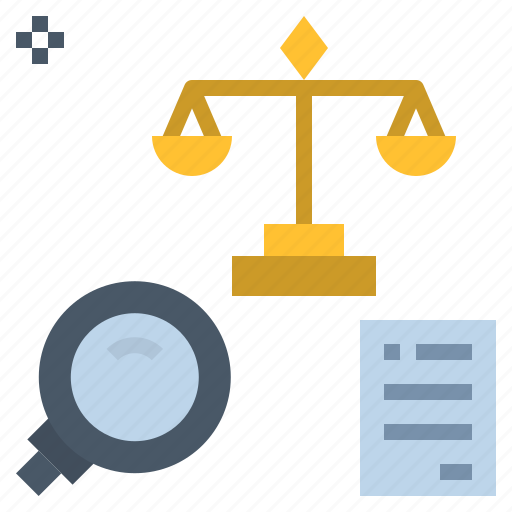 analysis, court, equitable, fairly, probate icon
