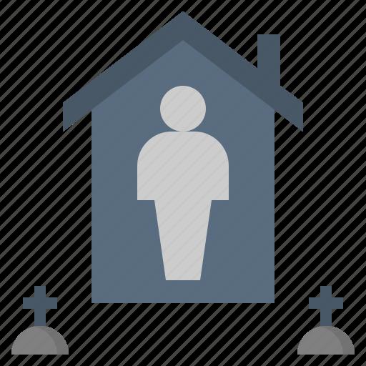 alone, estate, individual, survivor, survivorship icon
