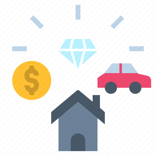 Property Rich Valuable Value Wealth Icon