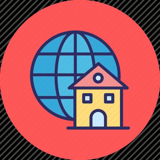 global access, global home, global network, homepage icon