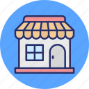 commercial building, marketplace, shop, store icon