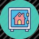 bank deposit, bank locker, bank safe, house vault icon