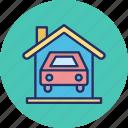 car wash, carport, garage, house garage icon
