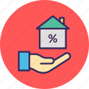 house interest, house value, property cost, property tax icon