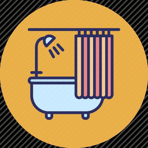 bathroom, bathtub, jacuzzi bath, shower icon