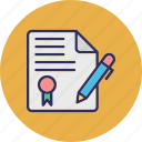 agreement, contract, document, official letter icon