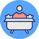 bathroom, bathtub, jacuzzi bath, shower icon