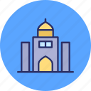 arcade, building front, condominium, tomb building icon