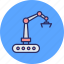 bulldozer, construction, crawler, excavator icon