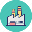 corporate, factory, industry, manufacturer icon