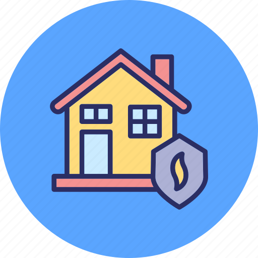 disaster safety, fire insurance, fire security, house insurance icon