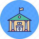 college, educational building, library, museum icon
