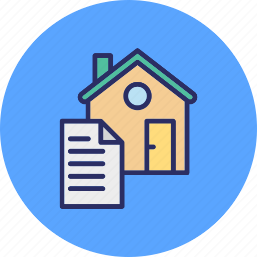 estate agreement, house contract, property contract, property document icon