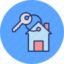 door key, house key, key, keychain icon