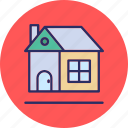 cottage, home, rural house, shack icon