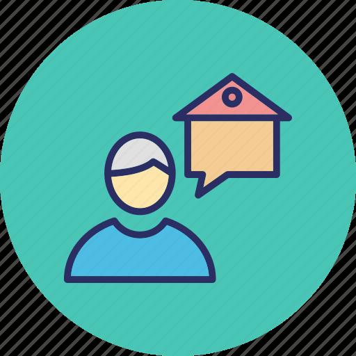 estate agent, homeowner, property advisor, property agent icon