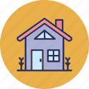 cottage, home, rural house icon
