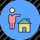estate agent, homeowner, property advisor, property agen icon