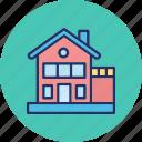building, bungalow, duplex house, dwelling icon