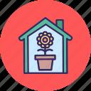 ecology, glasshouse, greenhouse, indoor plant icon
