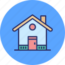 family house, home, house, residential building icon