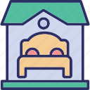 bedroom, home furnishing, home furniture, home interior icon