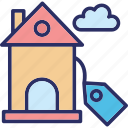 auction, auction bidding, house bid, house for sale icon