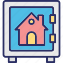 bank deposit, bank locker, bank safe, house vault icon