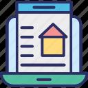 estate marketing, estate website, online mortgage, online property icon