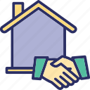 house accord, housing partnership, mortgage, property agreement icon