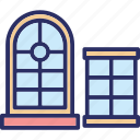 casement, house window, window, window case icon
