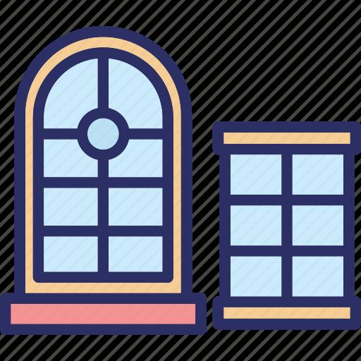 casement, house window, window, window case icon