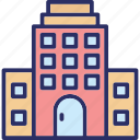 arcade, building, commercial building, market house icon