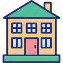 family house, home, house, residence icon