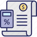 accounting, bookkeeping, budget calculation, calculation icon