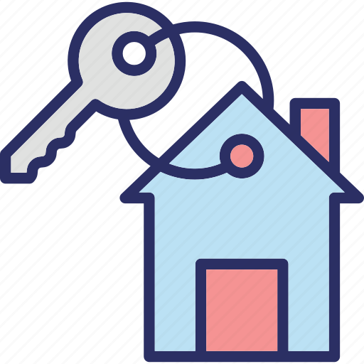 door key, house key, key, keychain icon