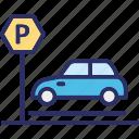 car parking, carport, garage, house garage icon