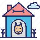 dog house, dog kennel, dog shed, dog shelter icon