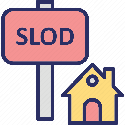 estate signage, property sold, sold advertisement, sold property icon